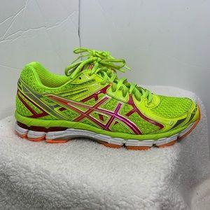 ASICS GT-2000 Neon Yellow Running Shoe 8.5